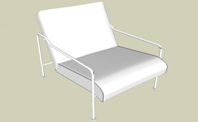 Creative back rest chair 3d elevation cad block details skp file