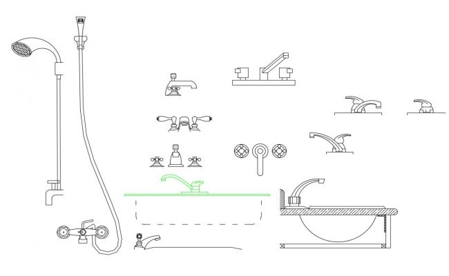Creative bathroom blocks cad drawing details dwg file