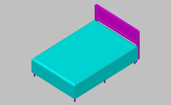 Creative double bed block elevation 3d drawing details skp file