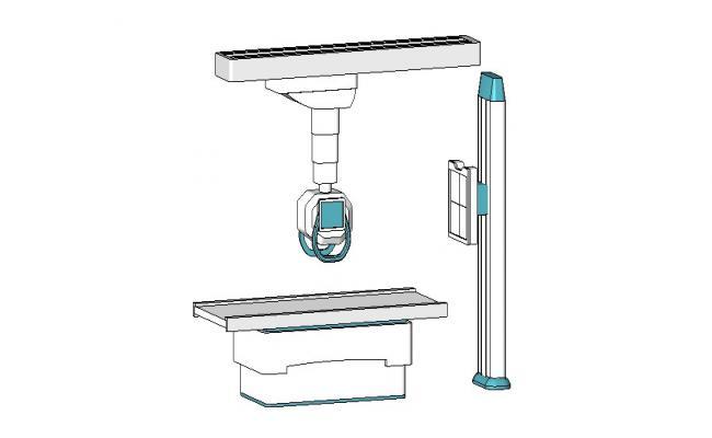 Creative full rayosx machine 3d model skp file