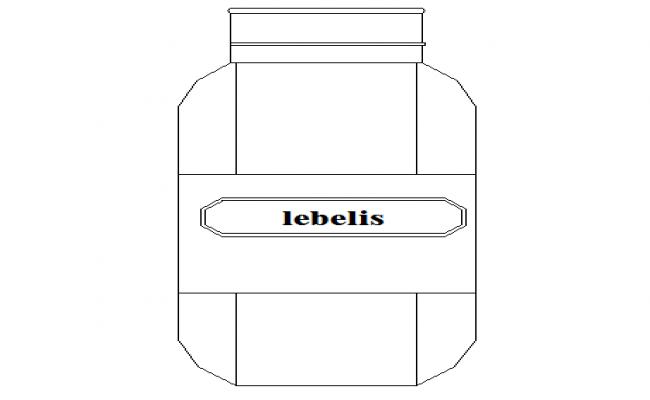 Creative glass jam jar cad design block dwg file