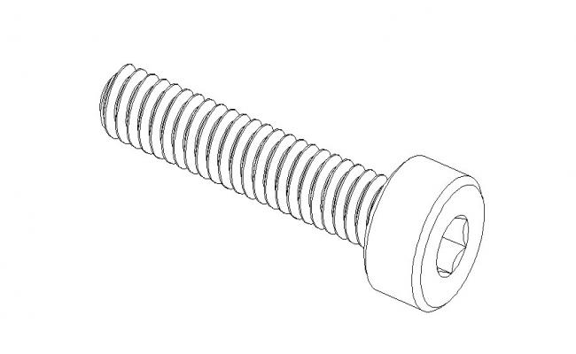 Creative metric screw elevation block cad drawing details dwg file