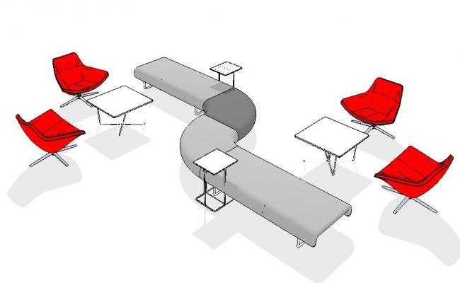 Creative multiple 3d furniture blocks cad drawing details dwg file