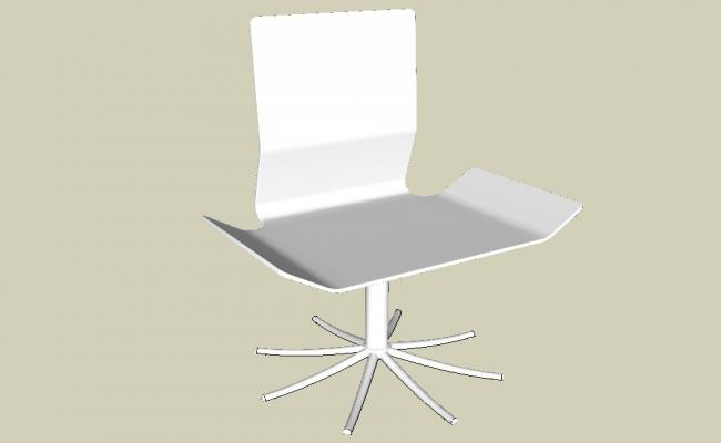 Creative office chair 3d model cad drawing details skp file