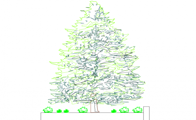 Creative tree and plant elevation blocks cad drawing details dwg file