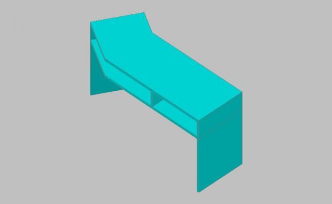 Creative wooden 3d desk block cad drawing details skp file