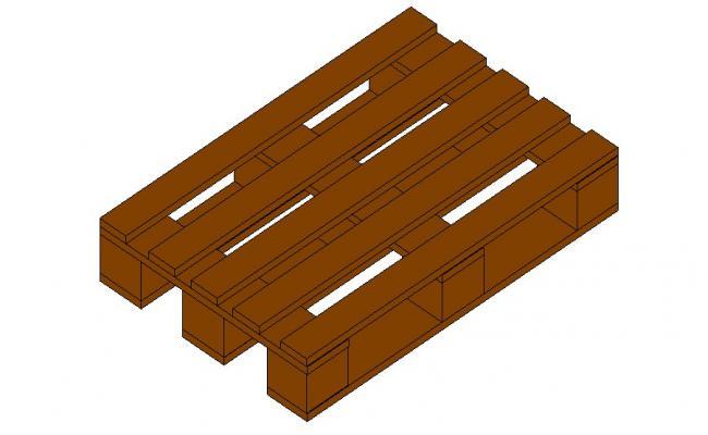 Creative wooden euro palette 3d block details skp file