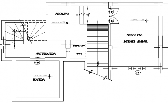 Credit agency office architecture layout plan details dwg file