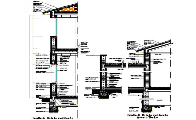 Cross section plan detail dwg file
