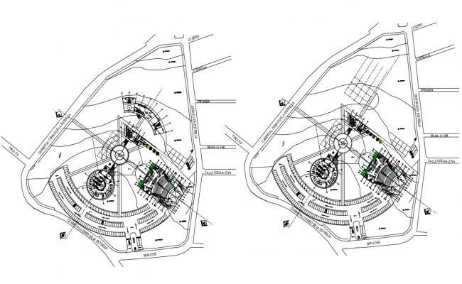 Cultural Center Architecture Plan