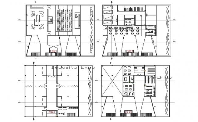 Cultural centre plan dwg fddile