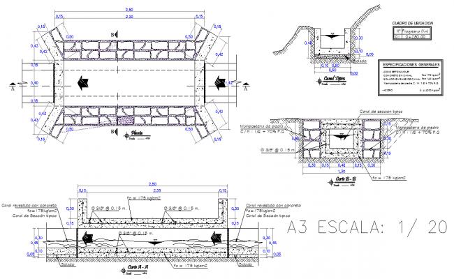 Culvert bridge type autocad file