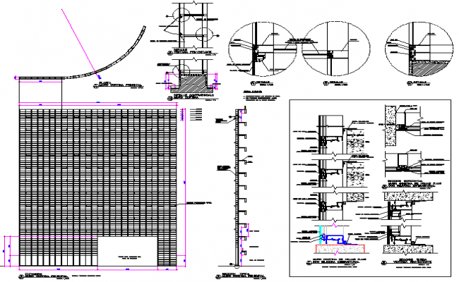 Curtain wall detail dwg file