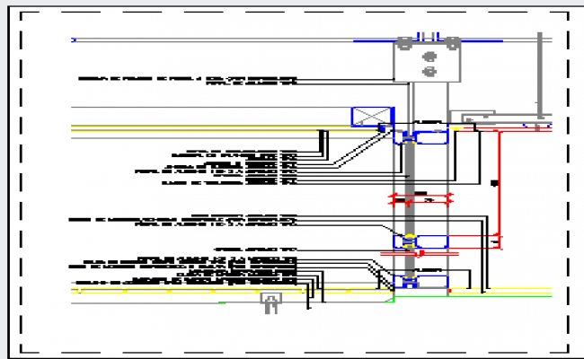 Curtain wall details design drawing