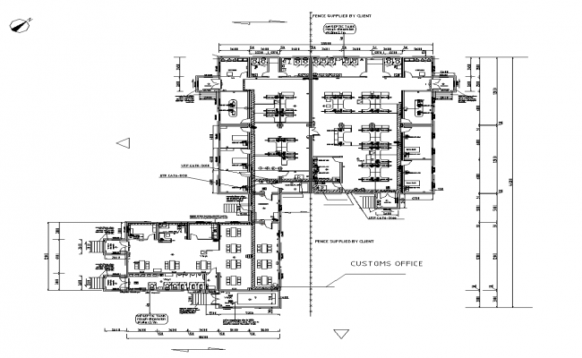 Custom House Network building plan detail autocad file