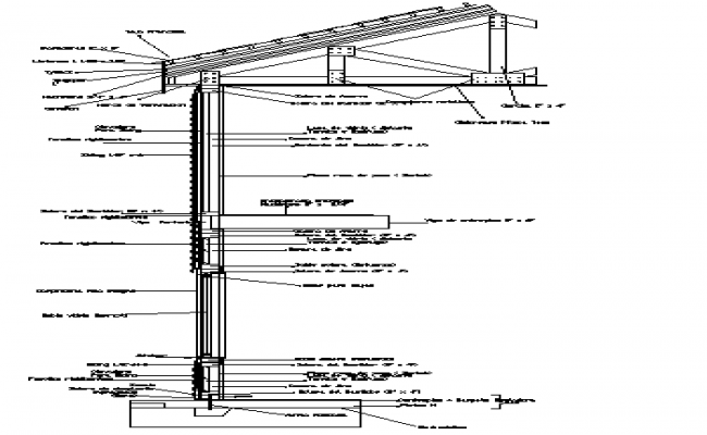 Cut ceiling construction details dwg file