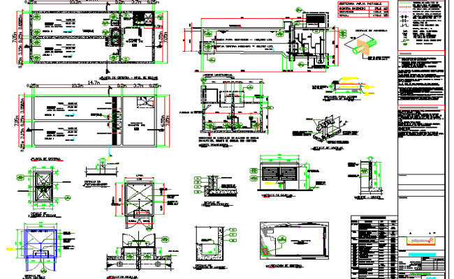 Cut sectional view with doors and window and auto-cad details of mall dwg file