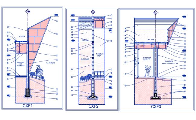 Cutting facade Dwg file