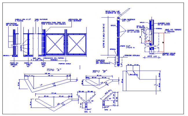 Cyclone mesh garden equipment details dwg file