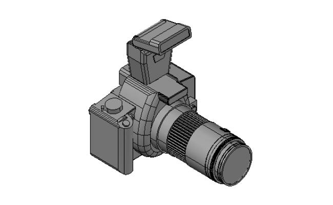 DSLR camera details in 3d