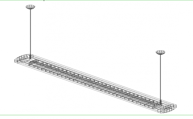 DTI_type_2_Beta_1 x 28 W electrical design 3d wire frame view dwg file