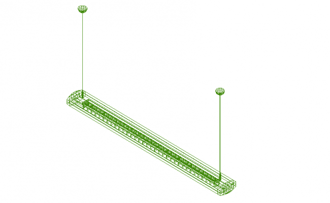 DTI_type_3_Beta_1 x 28 W electrical design 3d wire frame view dwg file