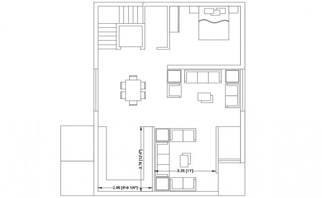 DWG Drawing Ground Floor Plan Of Bungalow AutoCAD File Free Download