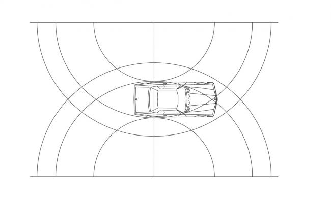DWG File Car With Drive way AutoCAD File Free