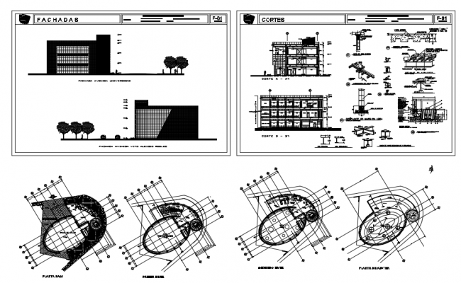 Building Plan In DWG File