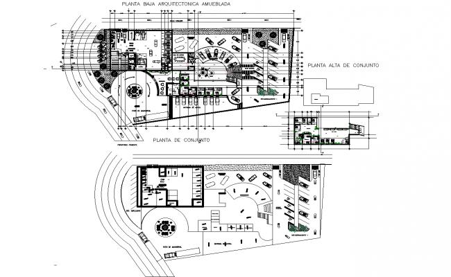 Dealership plan detail dwg file.