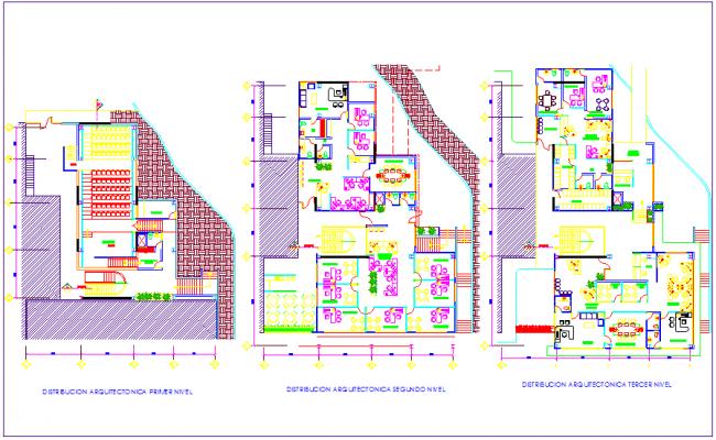 Dean office floor plan view dwg file