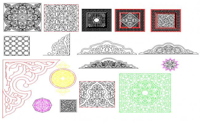 Decorative Blocks dwg file