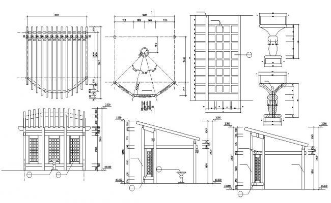 Decorative Garden Blocks AutoCAD File Free Download
