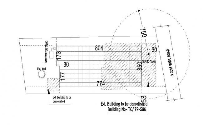 Demolished Building Design CAD drawing Plan