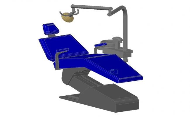 Dentist chair 3d design cad drawing details dwg file