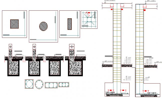 Department store construction details dwg file