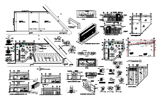 Department stores Structural Plan dwg file