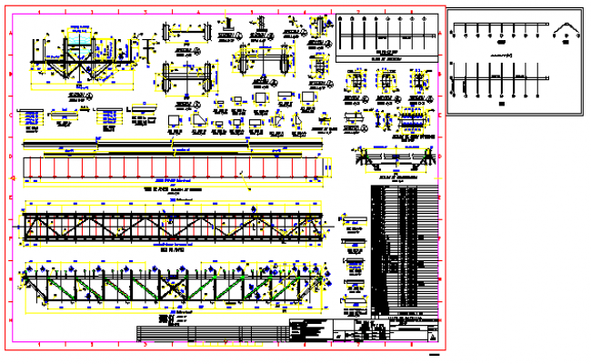 Design drawing of truss design drawing