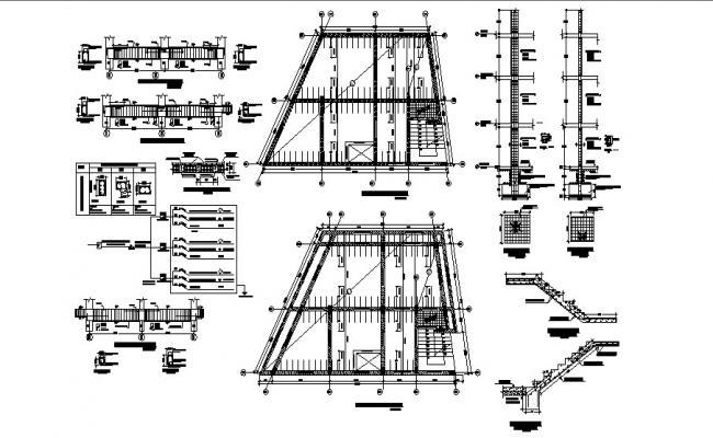 2 Storey House Design Plan In DWG File
