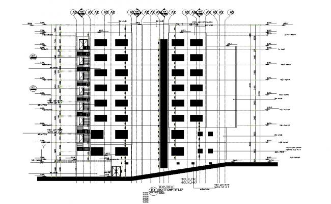 Design of Apartment building in autocad