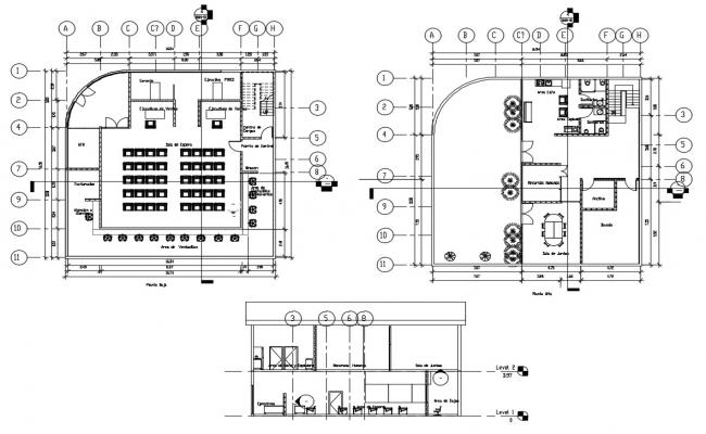 Bank Design Layout  In DWG File