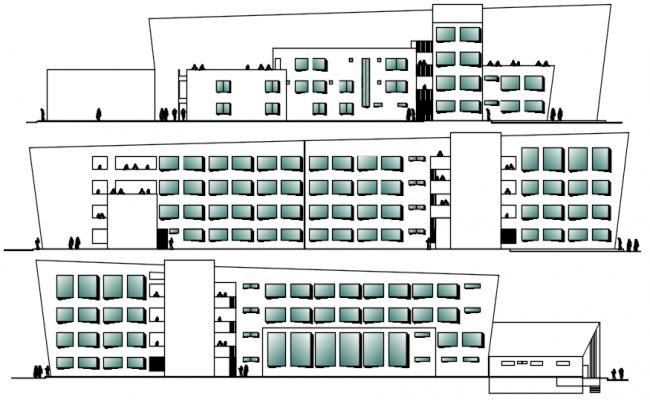 Building Drawing Plan In DWG File