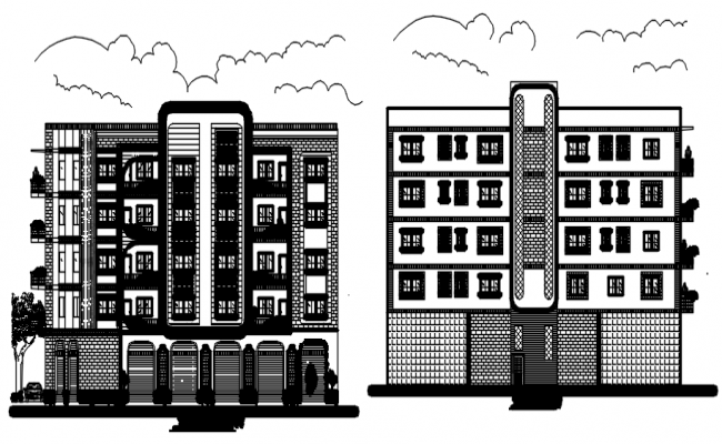 Apartment Elevation In DWG File
