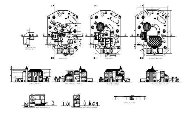 Villa design in AutoCAD file