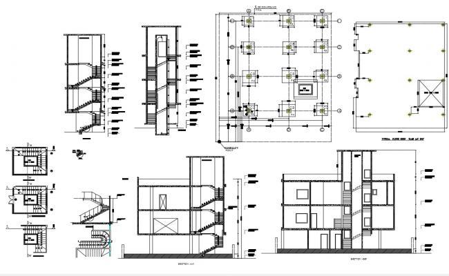 Residential Apartment Design In AutoCAD File