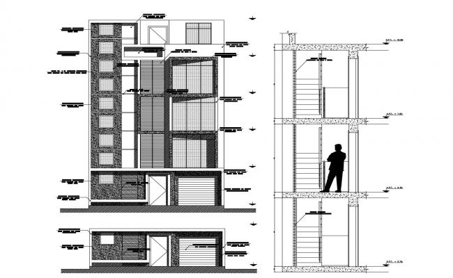 Residential building design in AutoCAD file