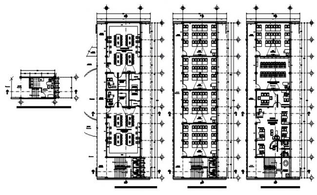 Office Layout Design In AutoCAD File