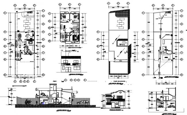 Design of bungalow in dwg file