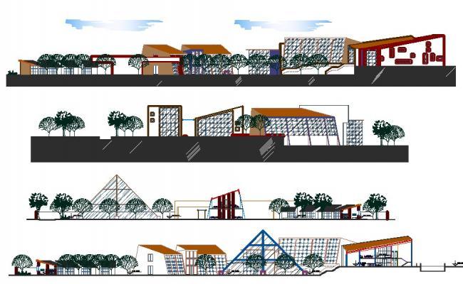 Design of ecotourism center in AutoCAD