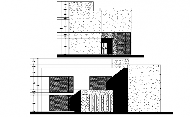 Building Elevation Design Cad File